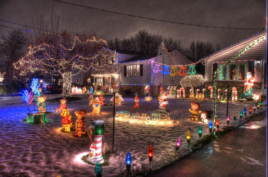 Christmas Lights in Rochester, New York by James Montanus